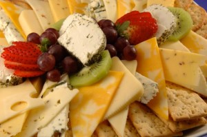 Cheese,Crackers & Fruit Platter