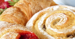 Muffins, Danishes, Ham & Cheese Croissants, Breads, French Pastry